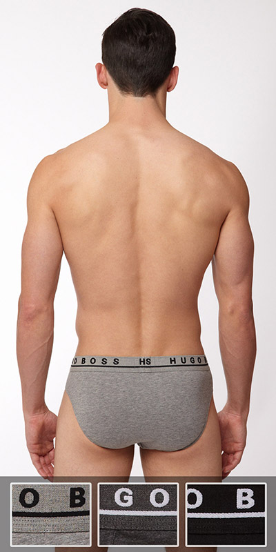 HUGO BOSS Cotton Stretch Mini Brief 3-Pack