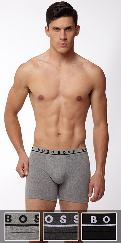 HUGO BOSS Cotton Stretch Cyclist 3-Pack