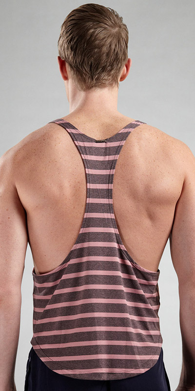 Tulio Athletic Stripe Tank Top
