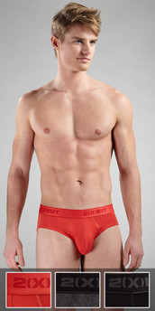 2XIST Essential 3-Pack No Show Briefs
