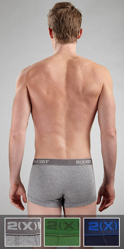 2XIST 3-Pack No Show Trunk