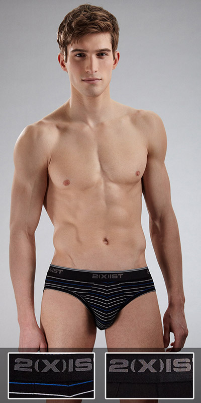 2XIST New Stretch 2-Pack No-show Brief