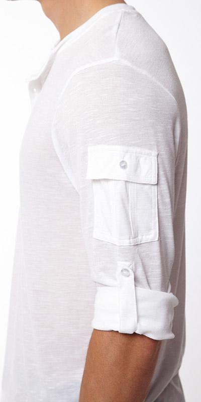2XIST Button Front Long Sleeve T-Shirt