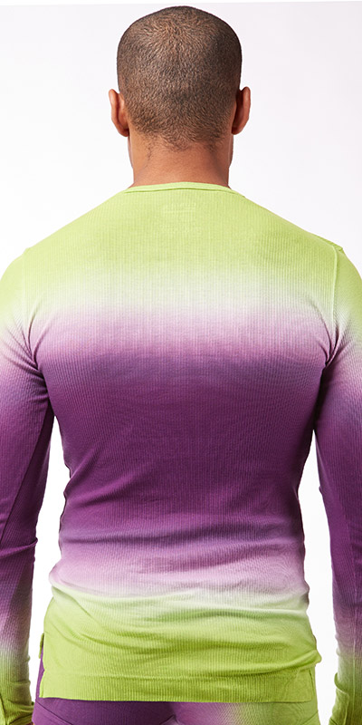 C-IN2 Dip Dye Long Sleeve Crew Neck