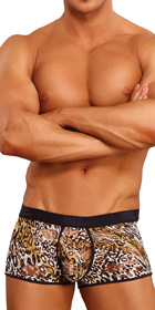 Male Power Leopard Enhancing Short