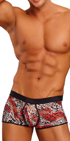 Male Power Leopard Enhancing Short