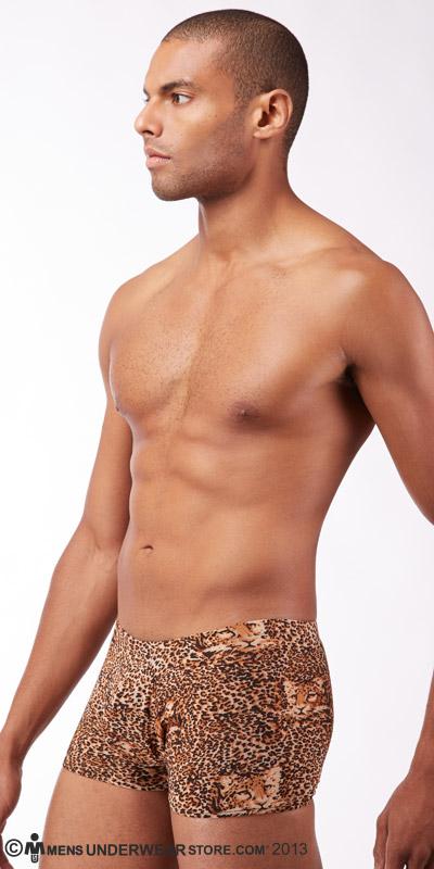 Male Power Leopard Squarecut Brief