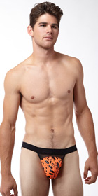 Male Power Tear Drop Foil Jock Strap