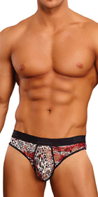 Male Power Leopard Micro Thong