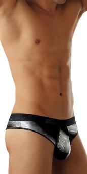 Male Power Metallic Streak Enhancing Thong