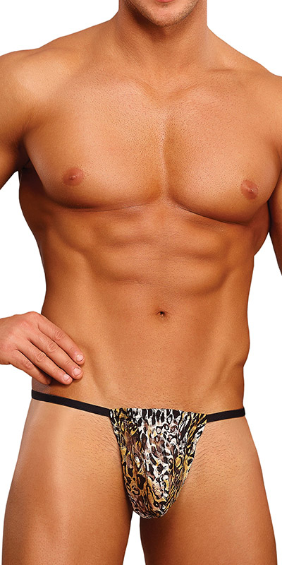 Male Power Leopard Posing Strap