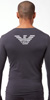 Emporio Armani Big Eagle Stretch Cotton Long Sleeve Shirt