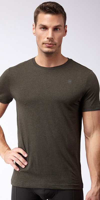 G-Star RAW Base Heather Crew Neck 2-Pack