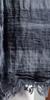 HUGO BOSS Striped Linen Two Tone Scarf