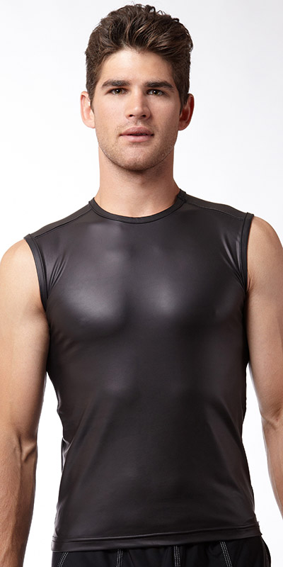 N2N Bodywear Black Muscle Shirt