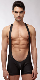 N2N Bodywear Black Wrestler