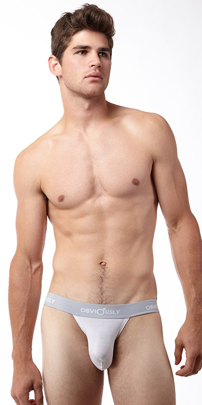Obviously Basic Low Rise Jock Strap with Anatomical Pouch