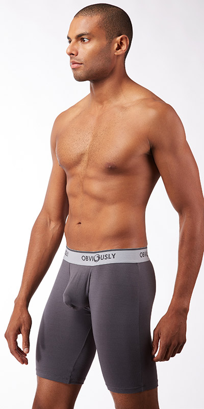 Obviously Naked Boxer Briefs 9 Inch Leg with Contour Pouch
