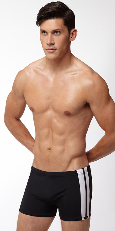 Sauvage Side Stripe Squarecut Swimsuit