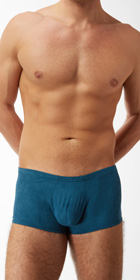 Male Power Stretch Suede Mini Short