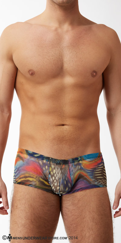 Male Power Aquarius Mesh Mini Shorts