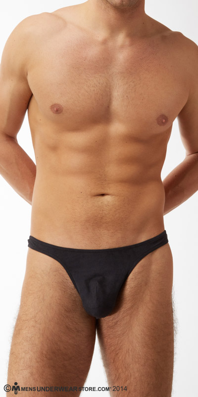 Male Power Stretch Suede Bong Thong