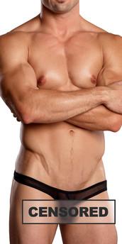 Male Power Euro Male Mesh Full Cut Thong Back
