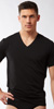 Calvin Klein Black Cotton V-Neck Shirt