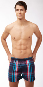 Diesel Plaid Lounge Boxers