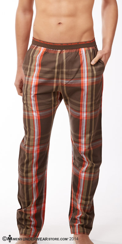 Diesel Plaid Lounge Workyboy Pants