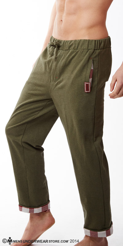 Diesel Plaid Lounge Massi Pants