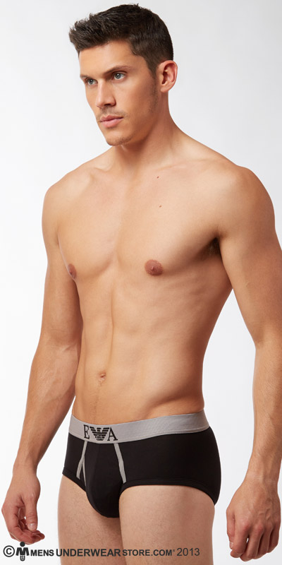Emporio Armani Signature Logo Cotton Stretch Fly Brief