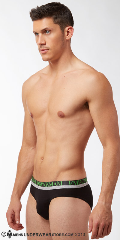 Emporio Armani Melange Insert Stretch Cotton Brief