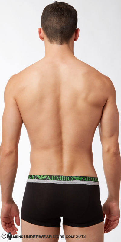 Emporio Armani Melange Stretch Insert Cotton Trunk