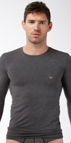 Emporio Armani Cotton Modal Long Sleeve Shirt