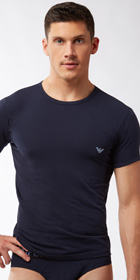 Emporio Armani Color Stretch Cotton Short Sleeve Shirt