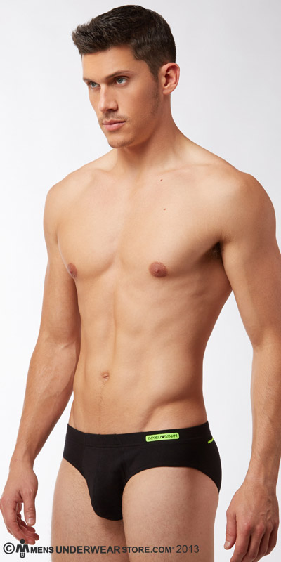 Emporio Armani Embroidery Logo Stretch Cotton Brief