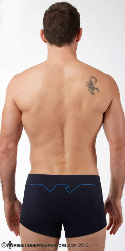 Emporio Armani Embroidery Logo Stretch Cotton Trunk
