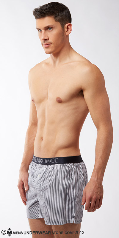 Emporio Armani Yarn-Dyed Cotton Boxers