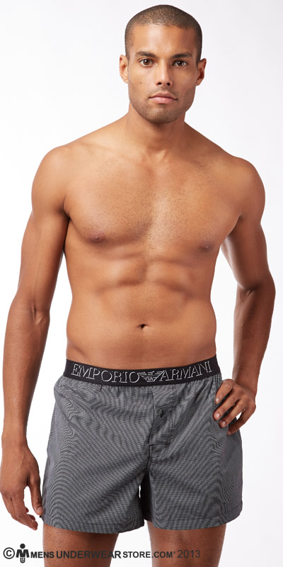 Emporio Armani Yarn-Dyed Cotton Boxer
