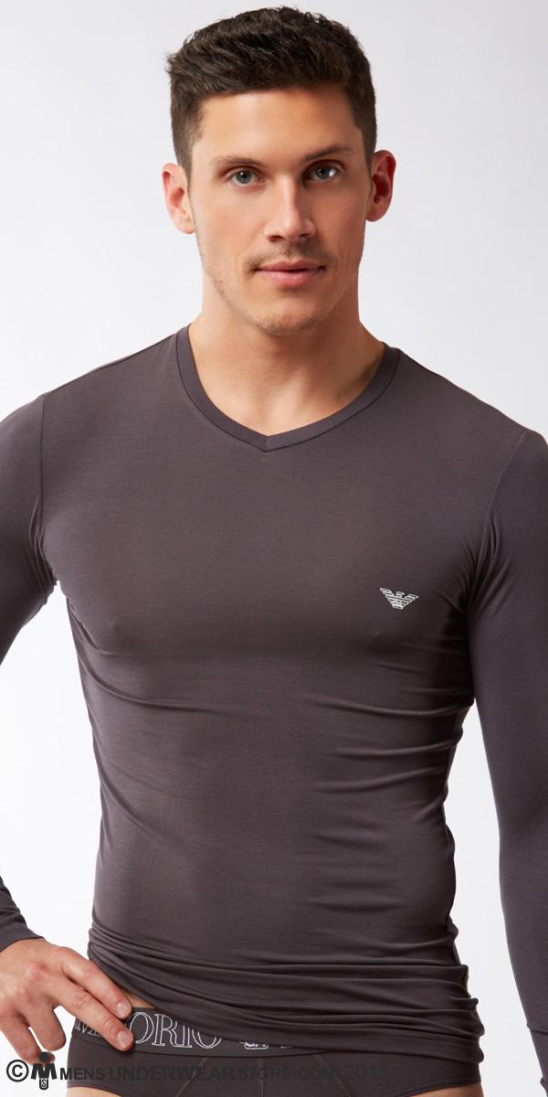 Emporio Armani Basic Stretch Modal Long Sleeve Shirt