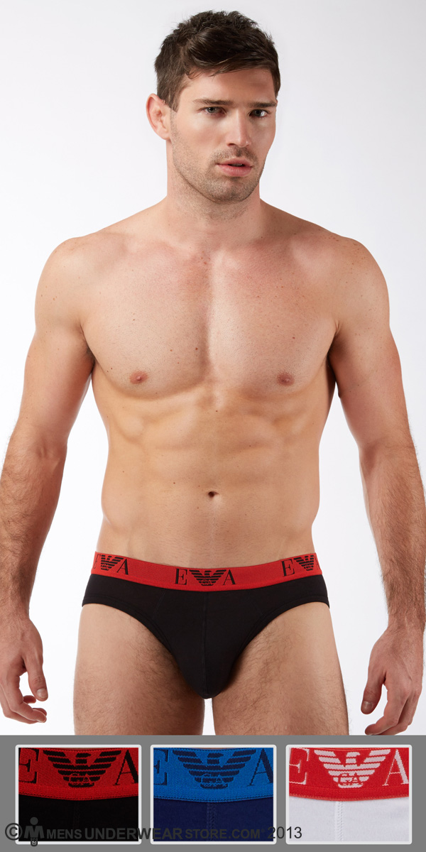 Emporio Armani Jersey Cotton 3-Pack Hip Brief