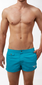 Emporio Armani Printed Logo Swim Shorts