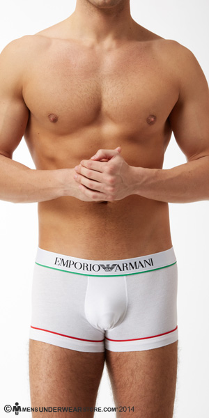 Emporio Armani Italian Flag Knit Trunks