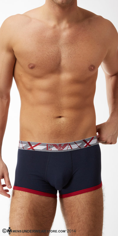 Emporio Armani Contrast Cotton Trunks