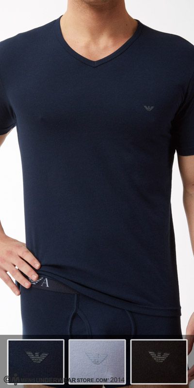 Emporio Armani Jersey Cotton 3-Pack V-Neck Shirt