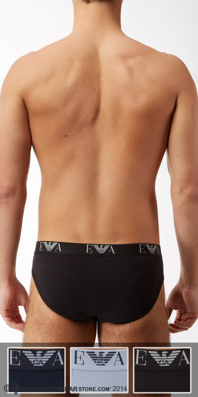 Emporio Armani Jersey Cotton 3-Pack Hip Briefs
