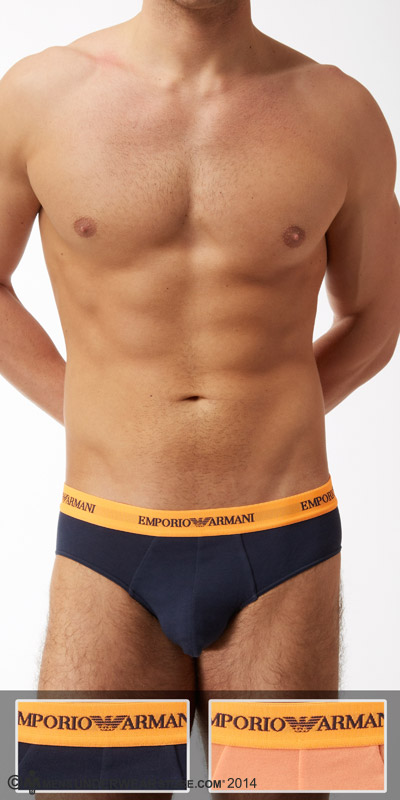 Emporio Armani Stretch Cotton 2-Pack Brief