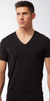 Hugo Boss Real Cool Cotton V-Neck T-Shirt
