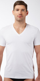 Hugo Boss Real Cool Cotton V-Neck Shirt